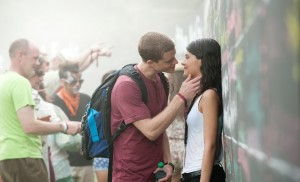 Left to right: Jonny Weston is David Raskin and Sofia Black D'Elia is Jessie Pierce in PROJECT ALMANAC, from Insurge Pictures, in association with Michael Bay.