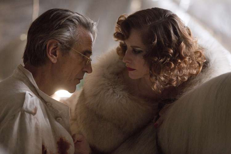 Royal (Jeremy Irons) and his wife (Keeley Hawes)