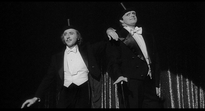 Wilder with Peter Boyle as the Monster in 1974's 'Young Frankenstein'