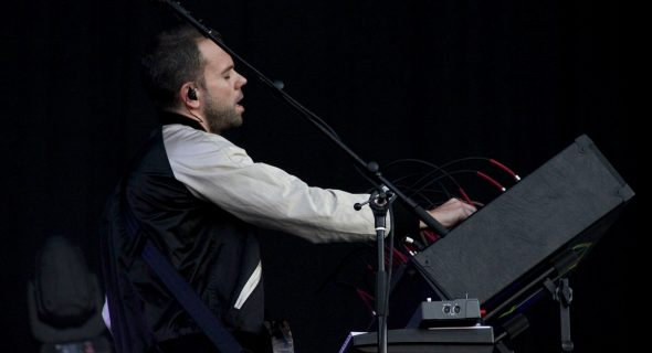 M83's Anthony Gonzalez performing live at Latitude's Obelisk arena