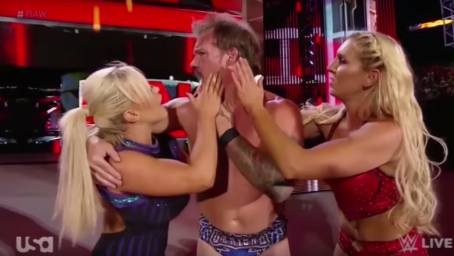 """Flirting with Steph in previous weeks? Now with Dana and Charlotte. Jericho epitomizes why this isn't a """"new era"""" - Stupid sexy Jericho"""