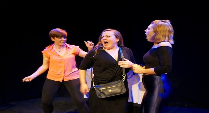Leila Thompson (Liza), Sophie Grogan (Heather) and Holly Russell (Stacy)