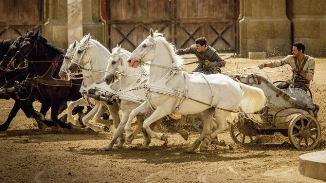 Toby Kebbell plays Messala and Jack Huston plays Judah Ben-Hur in Ben-Hur Paramount Pictures Corporation and Metro-Goldwyn-Mayer Pictures.