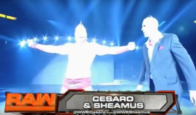 Finally, an excuse for Cesaro wearing sunglasses indoors