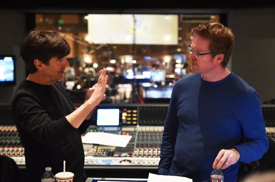 Finding Dory scoring session, composed by Thomas Newman, with Director Andrew Stanton and Producer Lindsey Collins, on March 22, 2016 at Sony Pictures Studios in Culver City, California. (Photo: Alberto Rodriguez / Disney•Pixar)