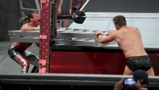 The Miz went to town with that ladder // wwe.com
