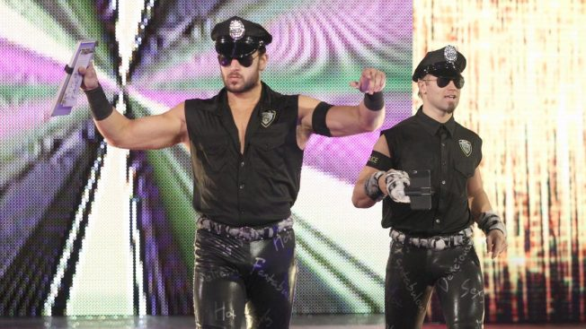 """Those tight leather pants actually have the word """"fantabulous"""" on them... and I thought they were the Fashion Police? // wwe.com"""