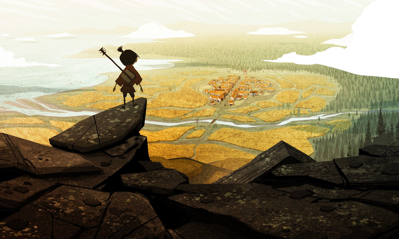 kubo and the two strings film review stop-motion animotion