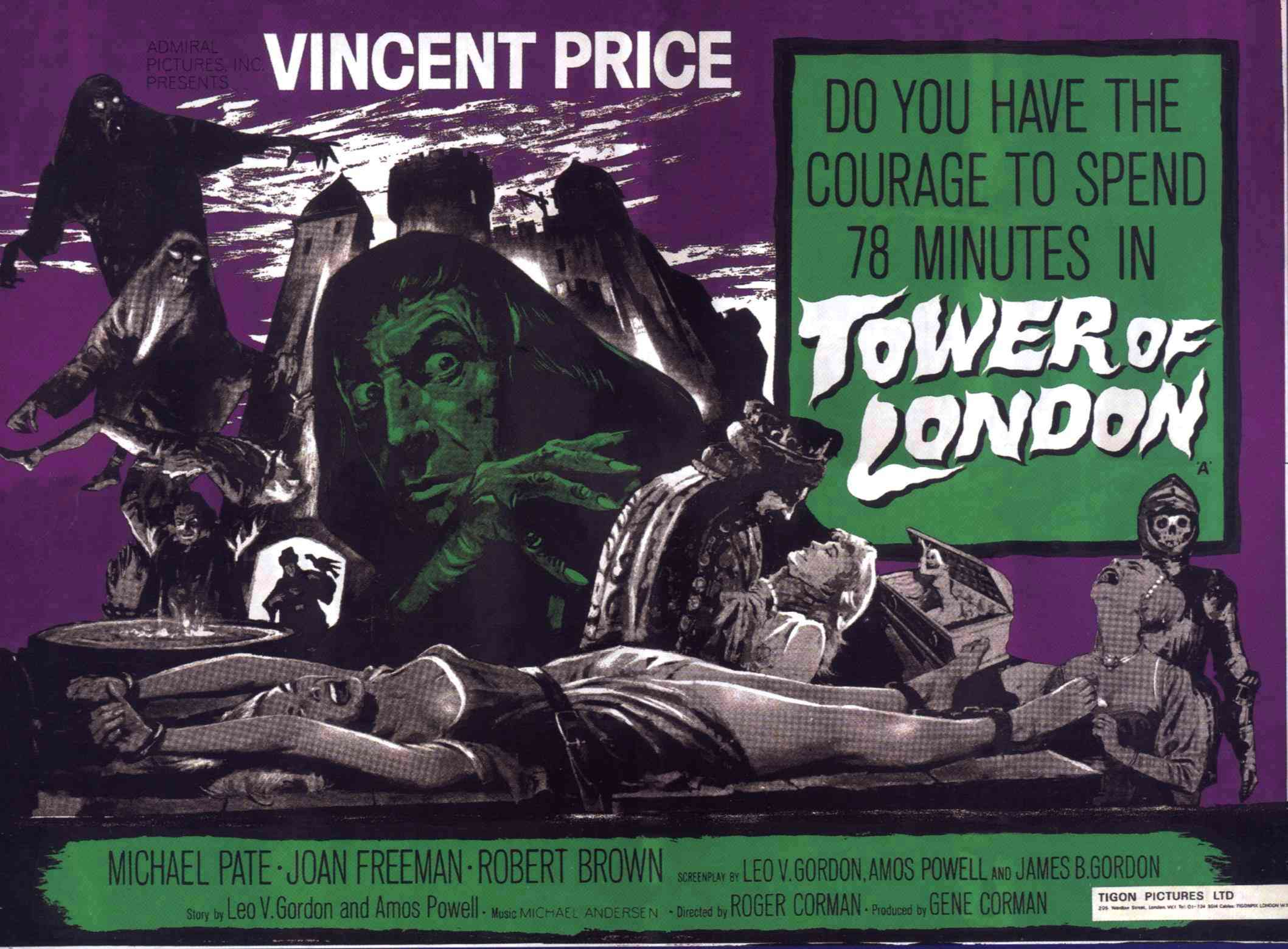 tower of london horror film review vincent price