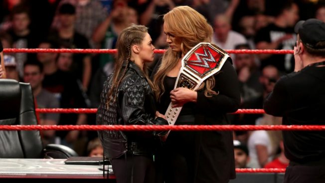 Ronda Rousey and Nia Jax square up