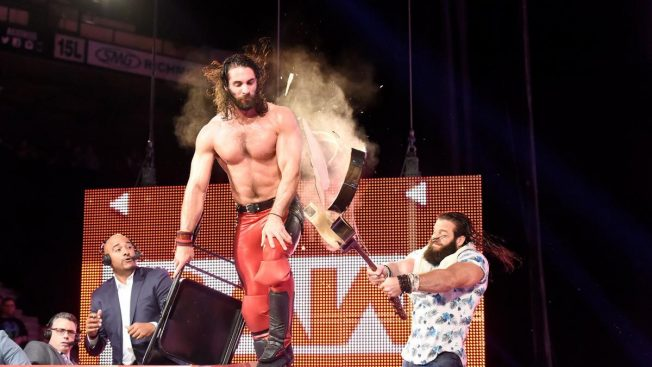 Elias hits Rollins with guitar