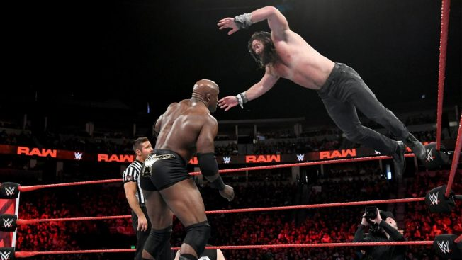 Elias flies at Bobby Lashley