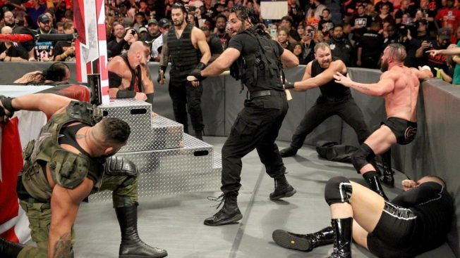The Shield take on the roster with axe handles