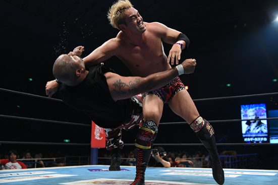 Bad Luck Fale eats the Rainmaker