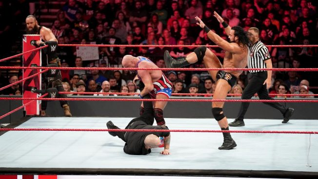 Drew McIntyre stops Angle submitting Corbin