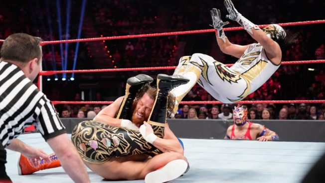 Curt Hawkins has his pin attempt foiled