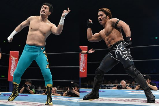 Taguchi and Ishimori trade dance moves