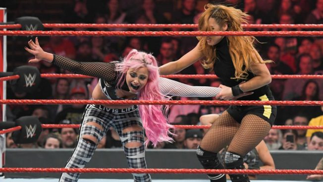 Becky Lynch tries to set Liv Morgan up for a Dis-Arm-Her