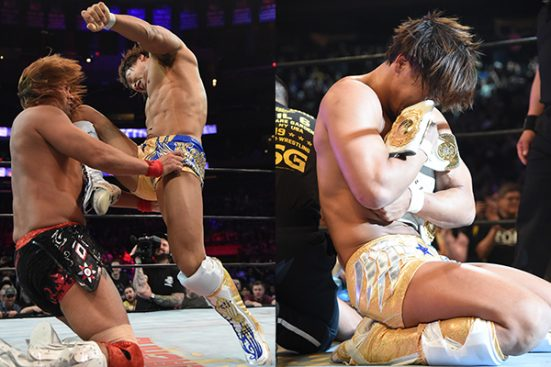 A Kamigoye earns Ibushi the IC Title