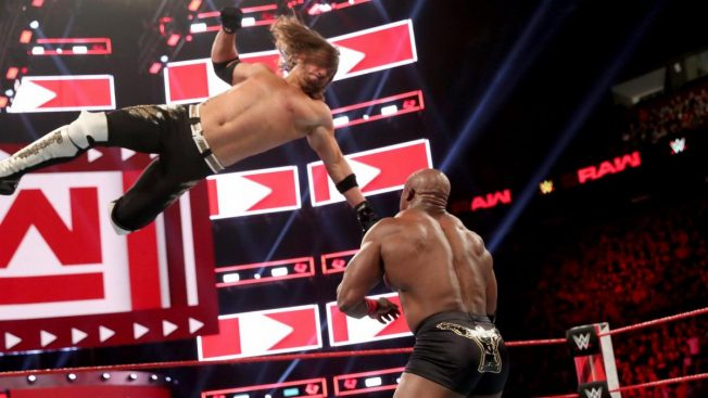 AJ Styles Phenomenal Forearm to Bobby Lashley