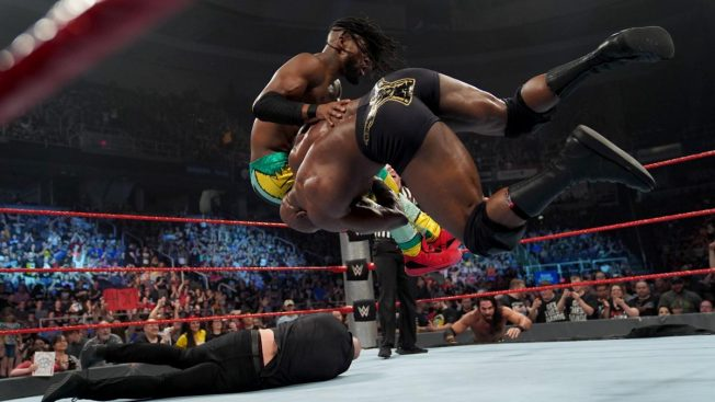 Bobby Lashley spears Kofi Kingston