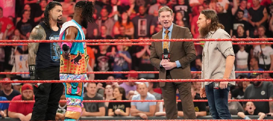 Roman Reigns ,Kofi Kingston, Vince McMahon and Daniel Bryan