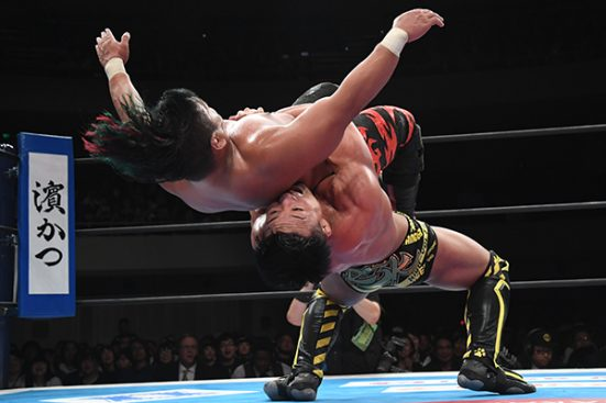 German Suplex from SHO