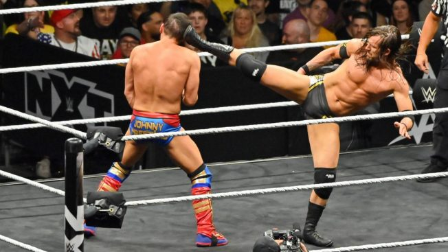 A superkick from Cole to Gargano's head