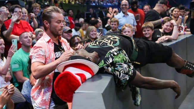 R-Truth taunts Drake Maverick at ringside