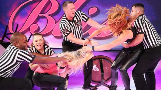 Becky Lynch and Natalya brawl