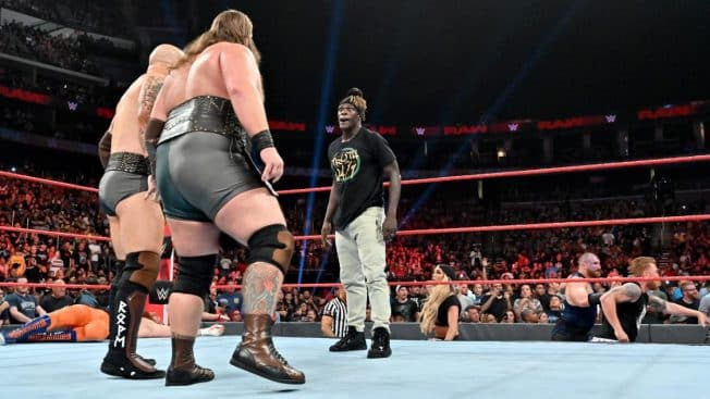 The Viking Raiders and R-Truth face to face