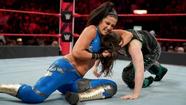 Bayley controls Nikki Cross