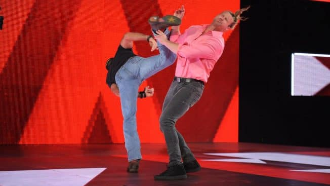Shawn Michaels gives Dolph Ziggler Sweet Chin Music