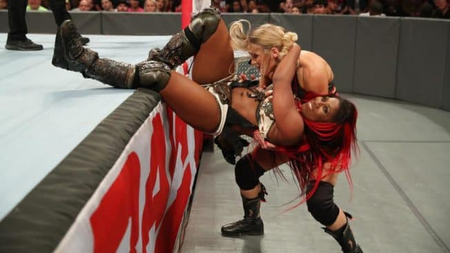 Ember Moon and Lacey Evans