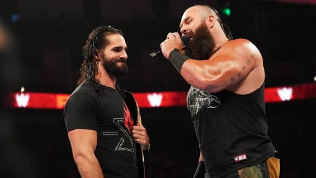 Seth Rollins and Braun Strowman talking