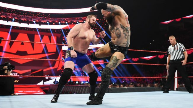 Aleister Black destroys a local competitor