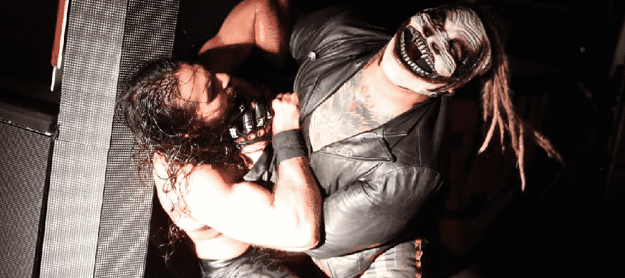 The Fiend attacks Seth Rollins
