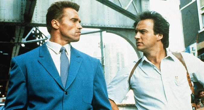 Schwarzenegger and Belushi in 'Red Heat'