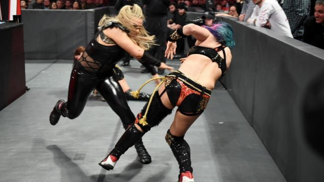 Natalya and Asuka brawl on the outside