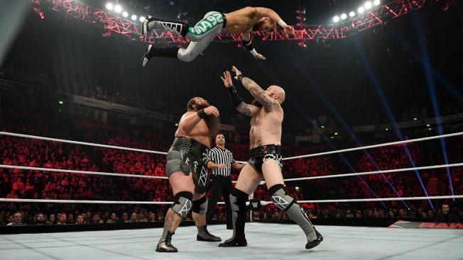 The Viking Raiders give Mark Andrews The Viking Experience
