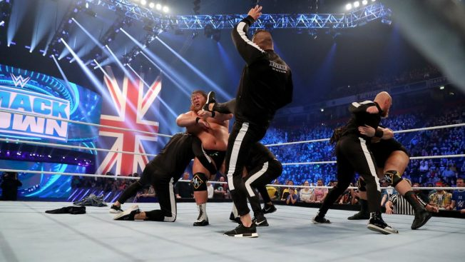 Imperium beat down Heavy Machinery in another NXT Invasion of Smackdown
