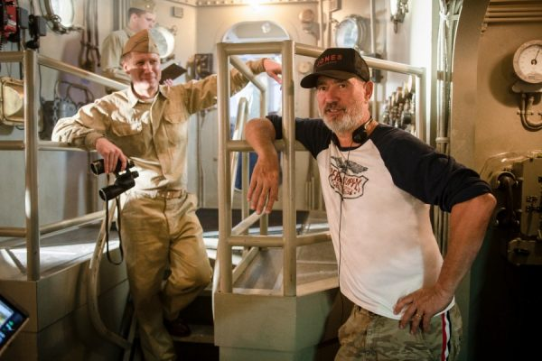 Roland Emmerich on set Midway