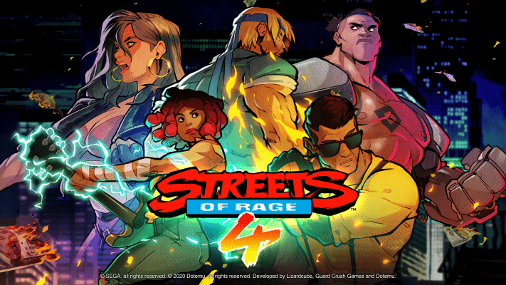 Streets of Rage 4 title card